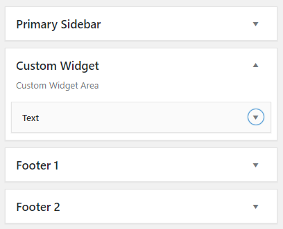 Custom Widget Area