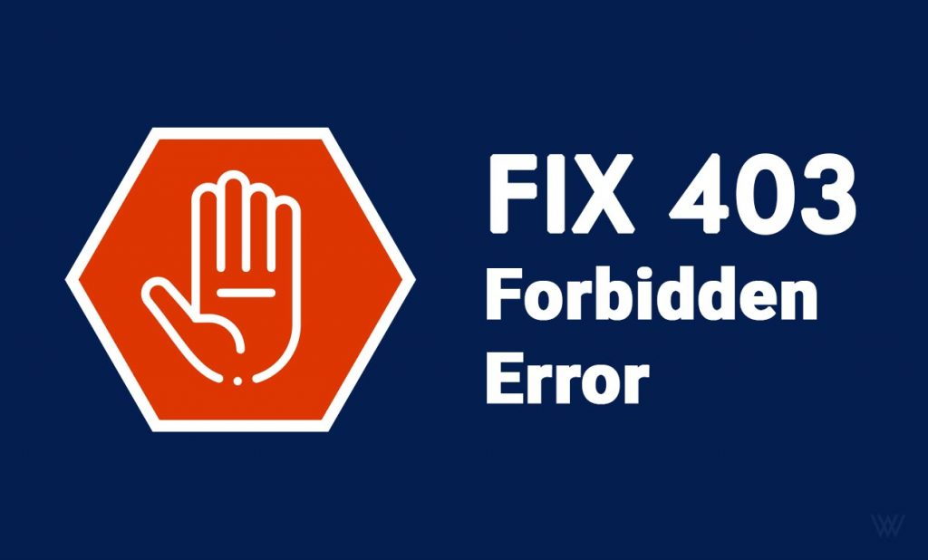 Fix 403 Forbidden Error